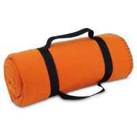 Deka Cestovná fleecová deka s odnímateľným držadlom, 180 g/m². rozložená 1500 x 1200 mm, složená ø120 x 310 mm