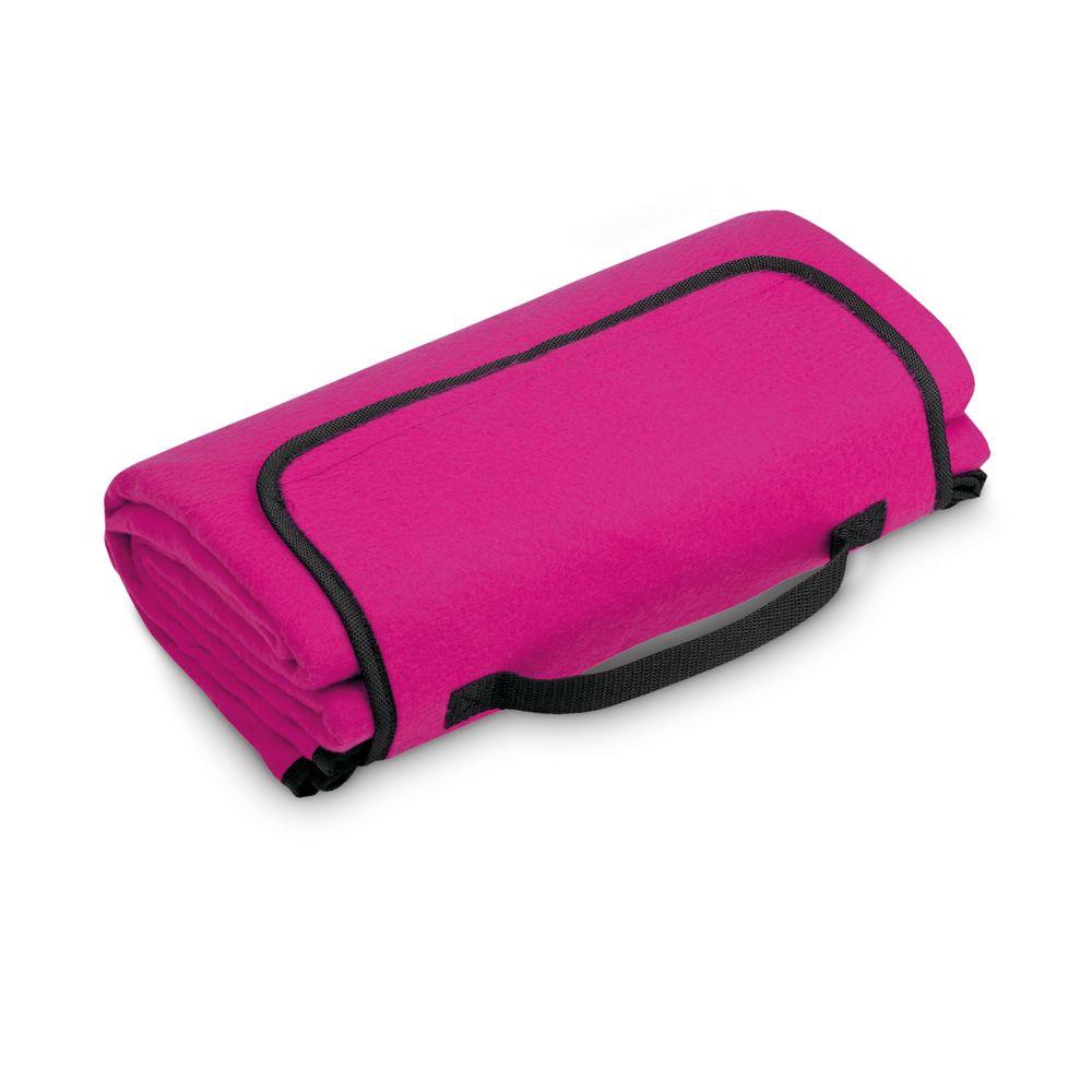 PAT. Skládací fleecová deka na suchý zip s poutkem, ze spodní strany voděodolný PE, 160 g/m². rozložená 1400 x 1300 mm