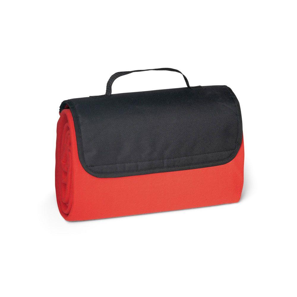 RILEY. leecová deka s podšívkou EPE (180 g/m²) s klopou ze 600D a rukojetí pro přenášení: