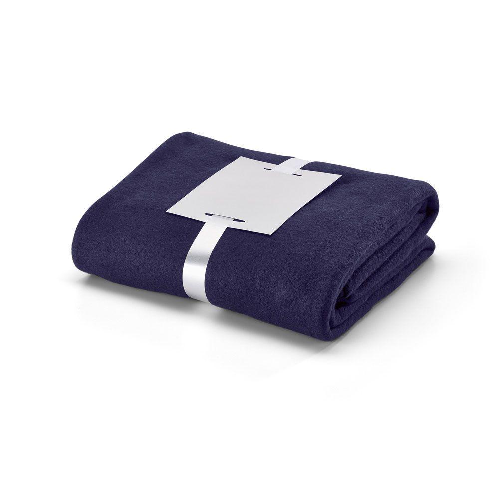 WARMY. Deka z materiálu polar fleece (250 g/m²) se saténovou stuhou a štítkem pro personalizaci. 1600 x 1300 mm