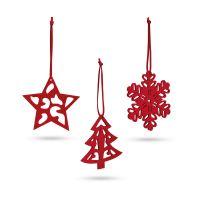 Sada 3 vánočních dekorací