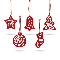 Sada 5 vánočních dekorací