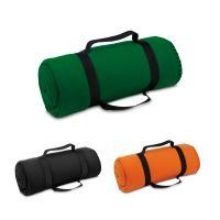 Cestovná fleecová deka s odnímateľným držadlom, 180 g/m². rozložená 1500 x 1200 mm, složená ø120 x 310 mm