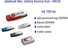 CLAUDIUS. USB flash disk, 16GB - rychlé dodání, skladem v různých barvách