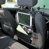 CARLET. Organizér do auta z imitace kůže s držákem pro tablet