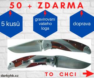 Akce - kapesní nůž s klipem s vaším gravírovaným logem