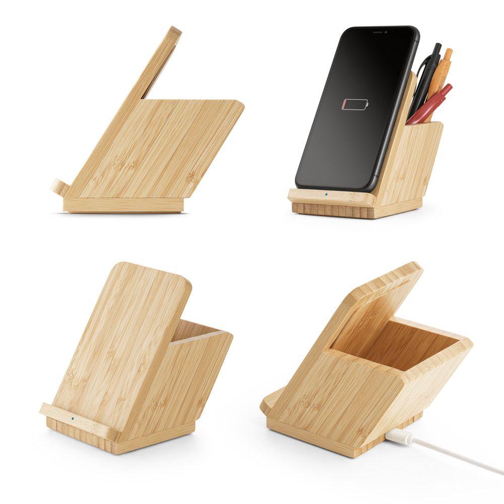 LEAVITT. Bezdrátová nabíječka v bambusu