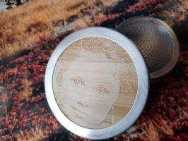 Bambusová termoska na čaj, gravírování vaší fotky na víčko termosky.